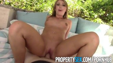 PropertySex – Unboxing video turns into sex with hot ass real estate agent