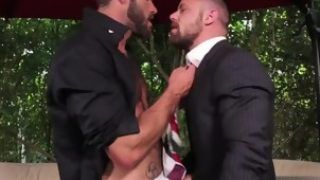 Hairy gay with cumshot