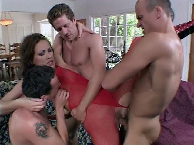 Mandy Bright Face Fucked by Two Guys