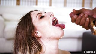 Dirty deepthroat and swallow